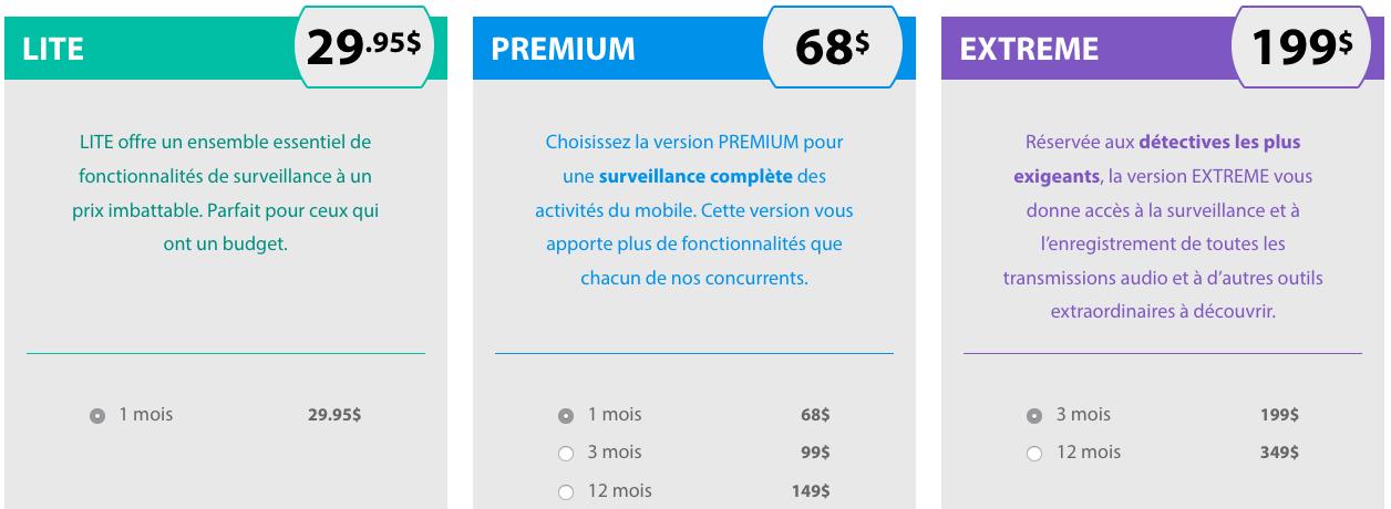 flexispy tarif